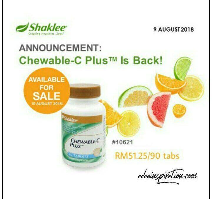 Vitamin C Chewable Kini Kembali!
