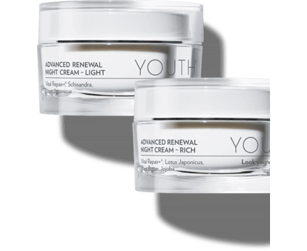 YOUTH Advanced Renewal Night Cream - Light or Rich