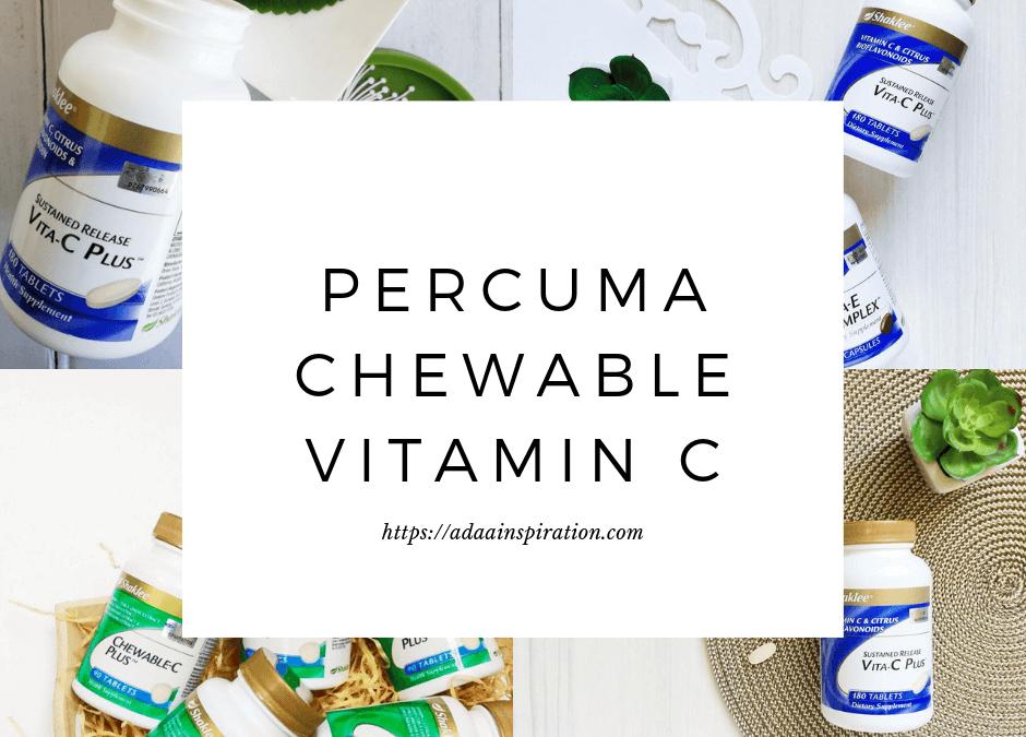 Percuma Vitamin C Sebotol!